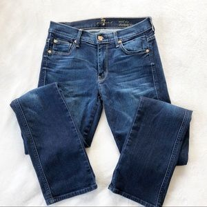 7 for all mankind Mid Rise Straight Leg Jeans 27